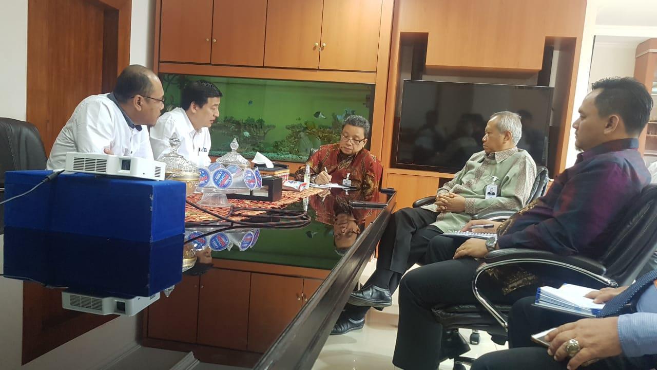 Pertemuan dengan Komisaris dan Pimpinan Bank Lampung dalam rangka MOU REI dengan DPD lampung