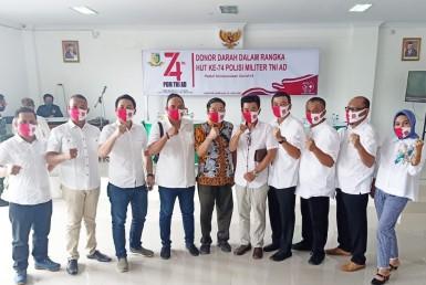 DPD REI Lampung donor darah ulang tahun polisi militer TNI AD (1)